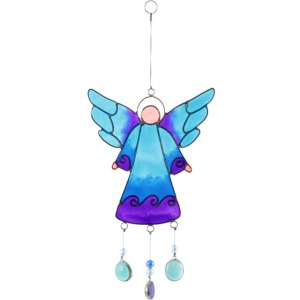27cm Blue Angel Suncatcher