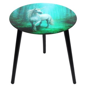 Forest Unicorn Glass Table by Anne Stokes