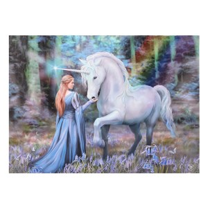 70x50cm Bluebell Woods Canvas Plaque by Anne Stokes