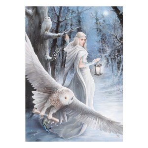 50x70cm Midnight Messenger Canvas Plaque by Anne Stokes