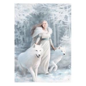 50x70cm Winter Guardians Canvas Plaque by Anne Stokes
