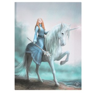 19x25cml Journey Starts Canvas Plaque by Anne Stokes