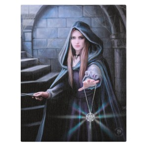 19x25cm Light in the Darkness Canvas Plaque by Anne Stokes