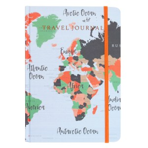 A5 Map Print Travel Journal