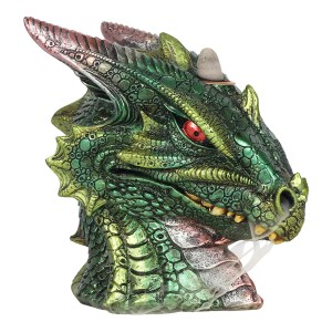 Large Green Dragon Head Backflow Incense Burner