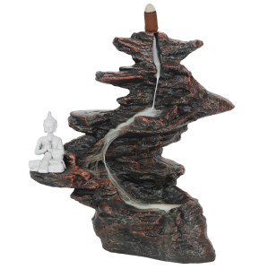 25cm Buddha on Rocks Backflow Cone Burner