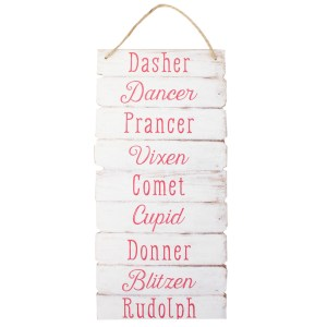 Reindeer Name Sign