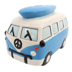 Blue Campervan Money Box
