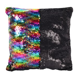 Rainbow Sequin Cushion