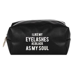 As Black As My Soul Makeup Bag