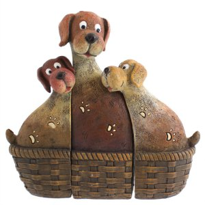 Dog Family In Basket