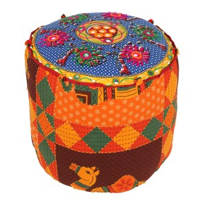 Indian Fabric Recycled Stool