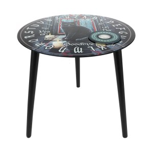 Sacred Circle Glass Spirit Board Table by Lisa Parker