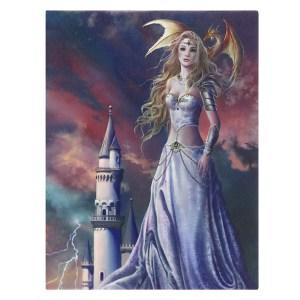 19x25cm Asiria Spark Canvas Plaque by Nene Thomas