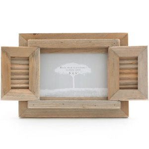 Driftwood Photo Frame With Shutter