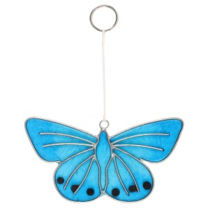 Chalkhill Blue Butterfly Suncatcher