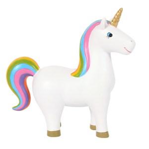 Rainbow Unicorn Ornament Pose 1