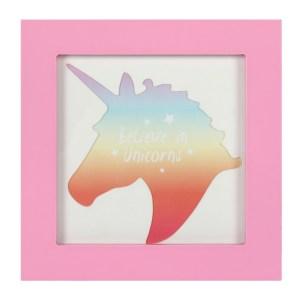 Small Pink Unicorn Photo Frame