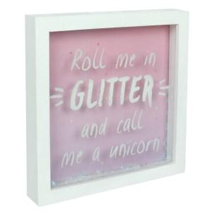 Roll Me In Glitter Box Frame