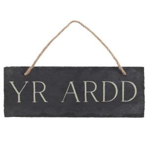 Yr Ardd Slate Sign