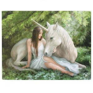 25x19cm Small Pure Heart Canvas Plaque by Anne Stokes
