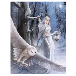 19x25cml Midnight Messenger Canvas Plaque by Anne Stokes
