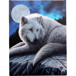 19x25cm Guardian Of The North Canvas Plaque by Lisa Parker