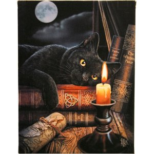 19x25cm Witching Hour Canvas Plaque By Lisa Parker