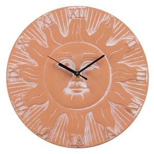 Terracotta Sun Clock