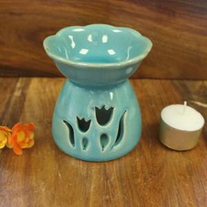 Tulip Design Oil Burner - Green