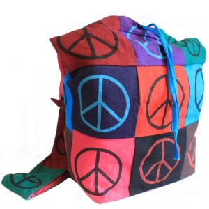 Cotton Patch Sling Bags - Peace