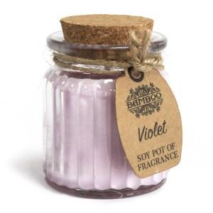 Violet Soy Pot of Fragrance Candles