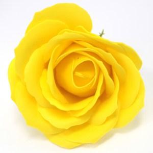 Craft Soap Flowers - Lrg Rose - Yellow