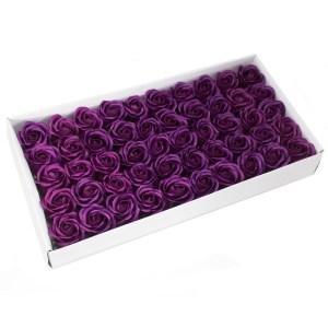 Craft Soap Flowers - Med Rose - Deep Violet