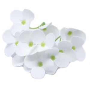 Craft Soap Flowers - Hyacinth Bean - White