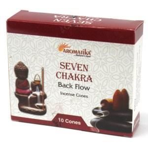 Aromatica Backflow Incense Cones - 7 Charkras