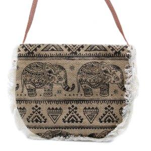 Fab Fringe Bag - Elephant Print