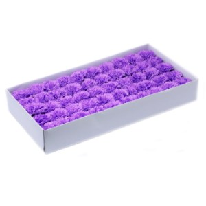 Craft Soap Flowers - Carnations - Violet