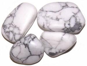 L Tumble Stones - Howlite, White