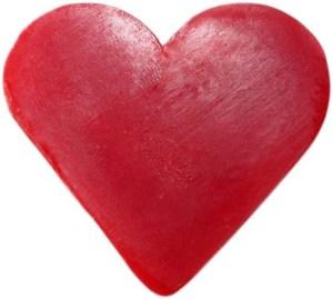 Heart Guest Soap - Raspberry