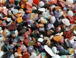Mixed Natural Gemstone Chips - 1KG