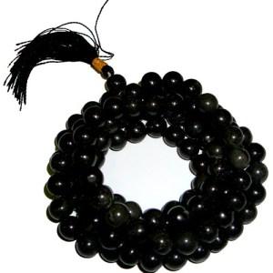 108 Bead Mala - Black Agate