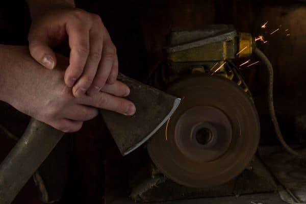 Sharpening your axe with a bench grinder