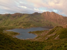 View from section of path where you decide to go around Crib Goch or climb on up