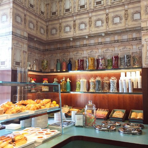 a cafe fit for a royal tenenbaum wes andersons mid century bar in milan - Midcentury Cafe 2015