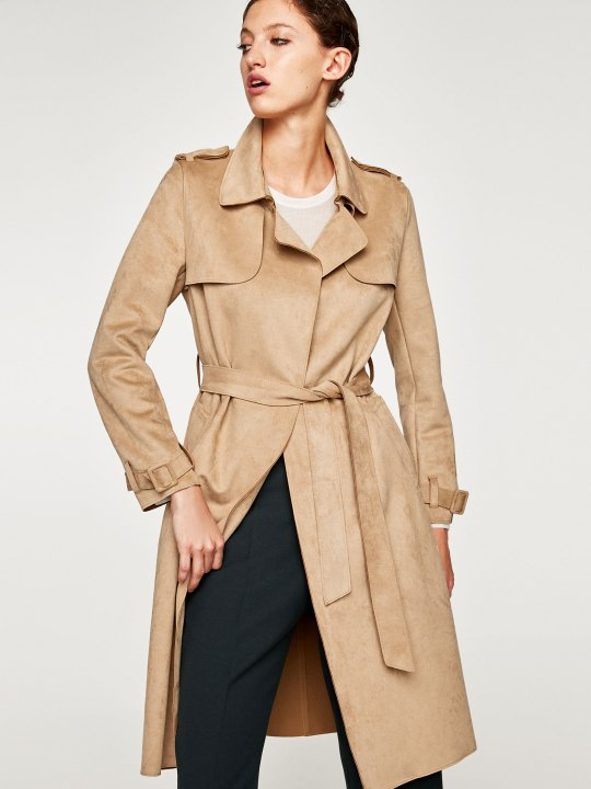 Zara Suede Trench