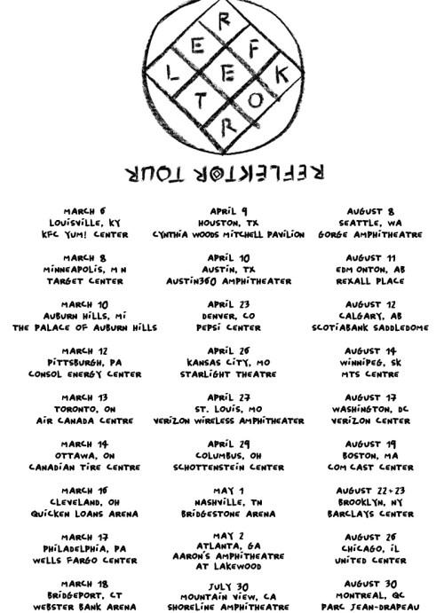 Arcade Fire - reflektor-tour