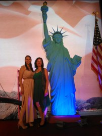 Posing with my roommate Julia at the Embassy 4th of July party