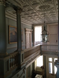 At the top of the main staircase