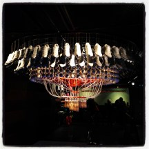 Faux chandelier at the Nike store